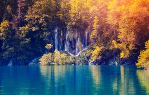 Photo wallpaper nature, lake, landscape, landscape