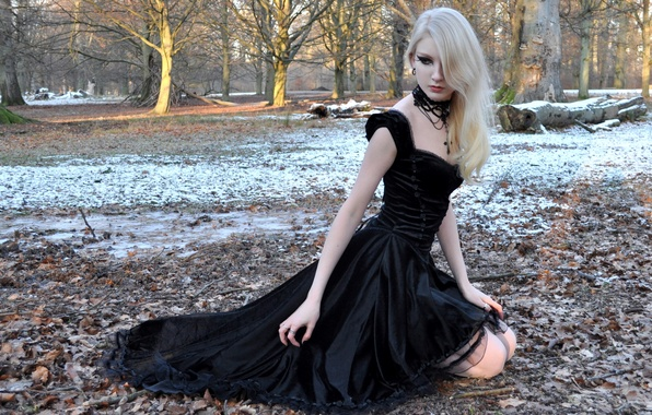 Picture Girl, Nature, Model, Snow, Beauty, Blonde, Outside, Maria Amanda Schaub, Goth, Beauiful
