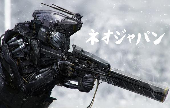 Picture fiction, robot, machine, the exoskeleton, art, sci-fi