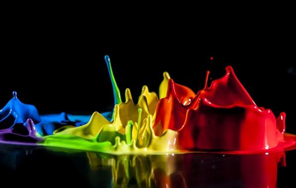 Picture squirt, paint, color, splash, liquid