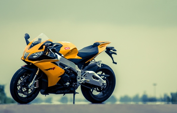 Picture yellow, motorcycle, aprilia, bike, yellow, Aprilia, rsv4, Supersport
