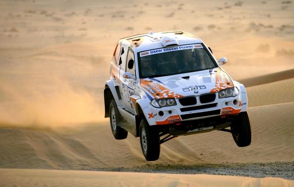 Picture Sand, BMW, Desert, Race, BMW, Rally, Dakar, Dakar, SUV, The front, 209