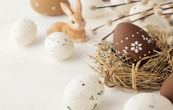 Picture flowers, eggs, spring, Easter, Verba, spring, Easter, eggs, decoration, Happy, willow