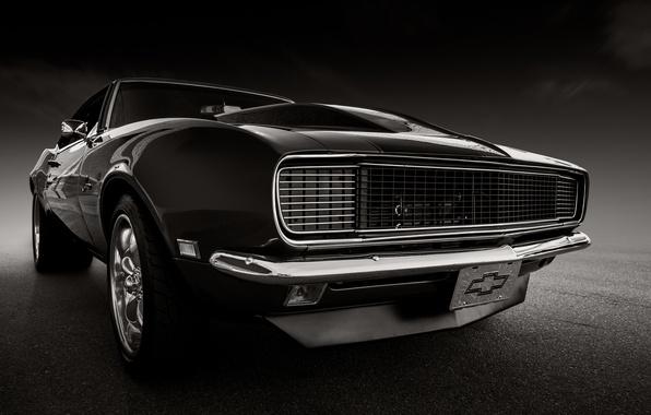 Picture retro, Chevrolet, Camaro, classic, the front, 1968