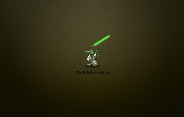 Picture minimalism, Star wars, the phrase, Jedi, 1920x1200, Yoda, minimal WallS, may the force be with …