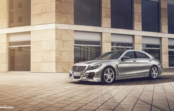 Picture Mercedes-Benz, silvery, S-class