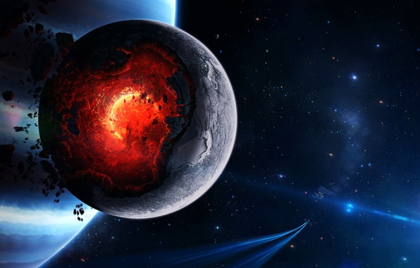 Picture space, planet, art, space, cataclysm