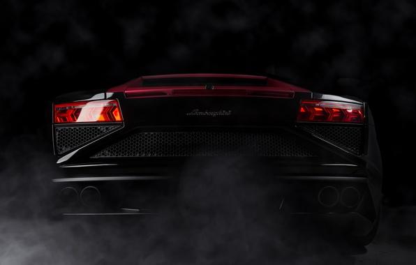 Picture black, Lamborghini, Gallardo, black, Lamborghini, rear, Gallardo