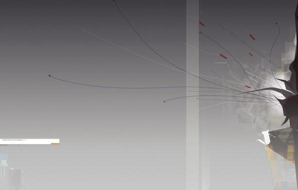 Picture line, minimalism, gradient