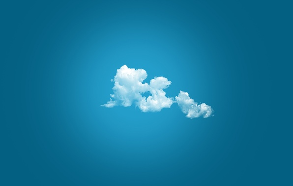 Picture clouds, minimalism, simple background