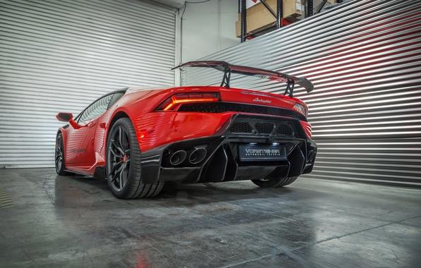 Picture machine, light, red, Lamborghini, Vorsteiner, back, Huracan, Novara, brake light