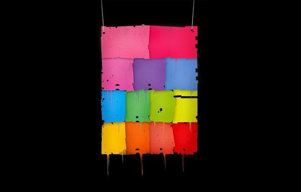 Picture paper, color, fabric, flap