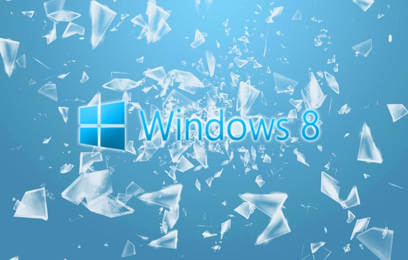 Picture computer, glass, fragments, Wallpaper, windows, hi-tech, operating system