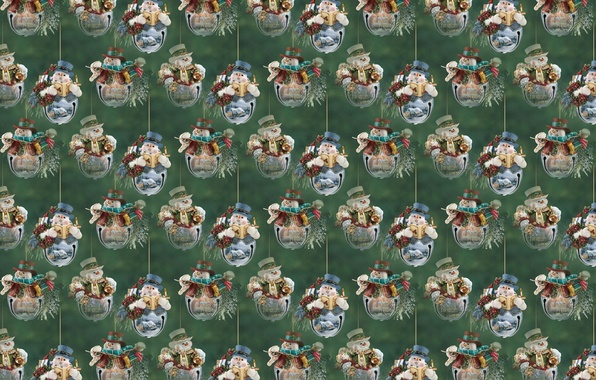 Picture background, holiday, texture, New year, snowman, bells