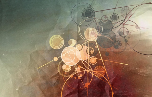 Picture line, circles, abstraction, background, Wallpaper, graphics, art