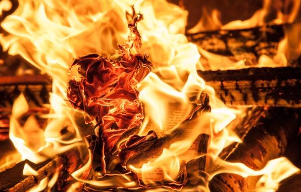 Picture paper, fire, heat