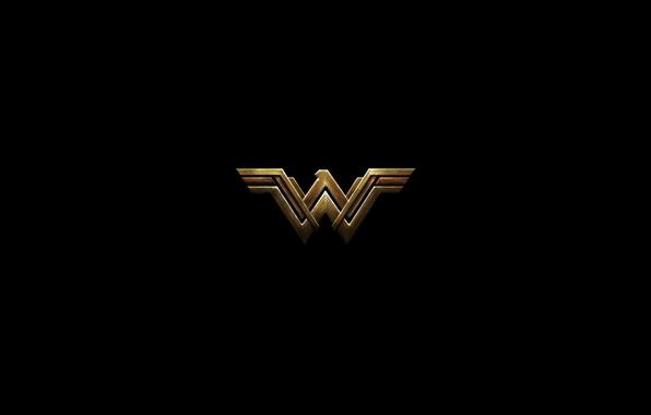 Picture cinema, red, logo, Wonder Woman, black, yellow, movie, hero, Prince, film, DC Comics, Diana, yuusha, …