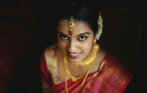 Picture eyes, girl, ritual, the bride, wedding, makeup. decoration