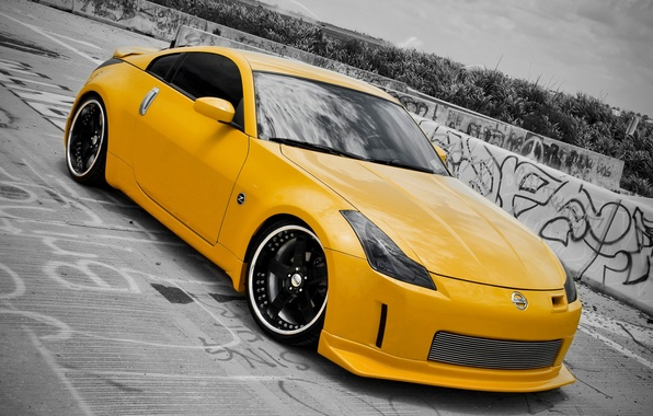 Picture yellow, cars, nissan, 350z, cars, Nissan, auto wallpapers, car Wallpaper