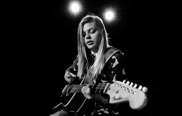 Picture France, guitar, singer, Louane Emera