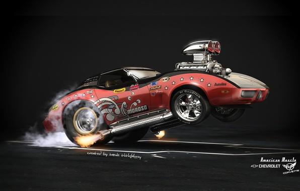 Picture Car, Hot Rod, Chevrolet Corvette, American Muscle
