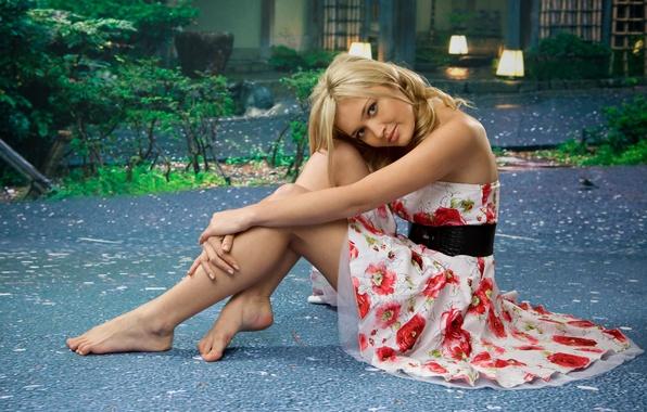 Picture dress, blonde, Monika Chantal