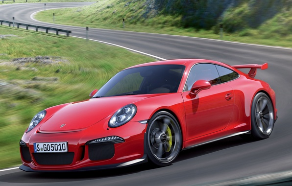 Picture Porsche, red, supercar, 911 GT3