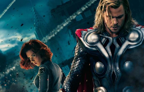 Picture Scarlett Johansson, Chris Hemsworth, The Avengers, The Avengers