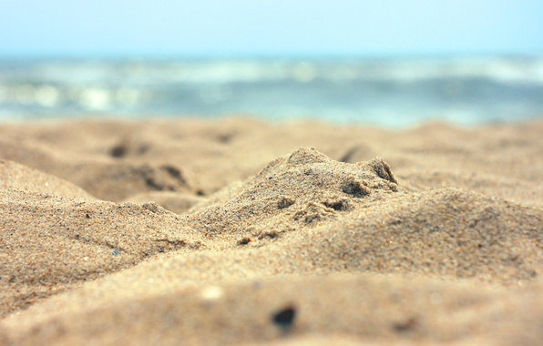 Picture sand, sea, wave, beach, summer, water, macro, landscape, nature