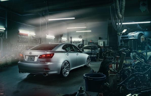 Picture Lexus, Subaru, Impreza, workshop, nodes, spare parts, silvery, lift, IS 250