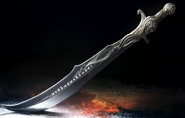 Picture pattern, sword, blade, characters, prince of persia, the handle