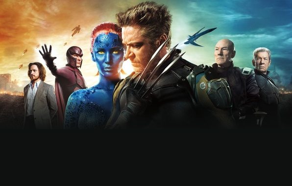 Picture Girl, Mystic, Wolverine, Hugh Jackman, X-Men, Logan, the, Marvel, Old, James McAvoy, Magneto, Michael Fassbender, …