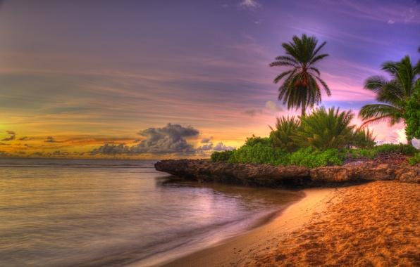 Picture sea, beach, the sky, clouds, landscape, sunset, nature, colors, beach, sunrise, sky, sea, landscape, nature, …