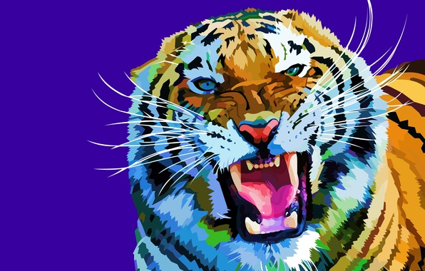 Picture mustache, face, tiger, background, vector, predator, fangs, grin