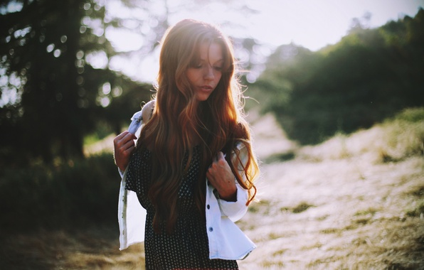 Picture girl, the sun, hair