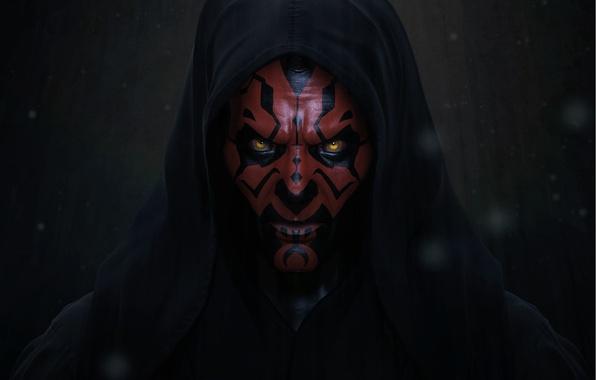 Photo wallpaper art, star wars, Darth Maul, Sith, Darth Maul, The Sith Lord