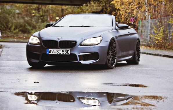 Picture Auto, Black, BMW, Machine, Convertible, Puddle, Lights, Matt, The front, Overcast, BBM Motorsport