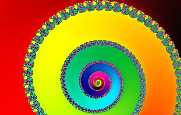 Picture light, pattern, color, rainbow, spiral