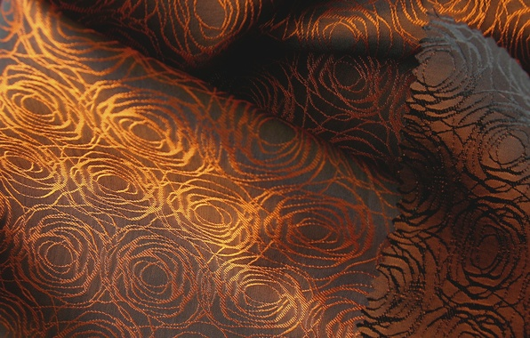 Picture patterns, texture, fabric, brown, gold