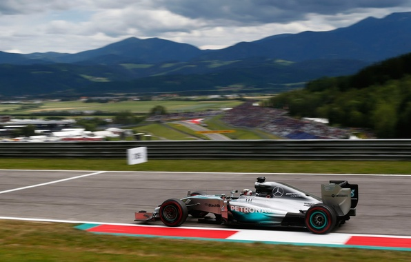 Picture race, sport, formula 1, the car, Mercedes, lewis hamilton, Mercedes AMG Petronas F1, Austrian GP