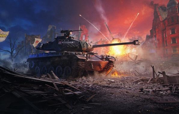 Photo wallpaper M 41 90 GF, German Bulldog, The WGL Grand Finals 2016, WoT, World Of Tanks, ...