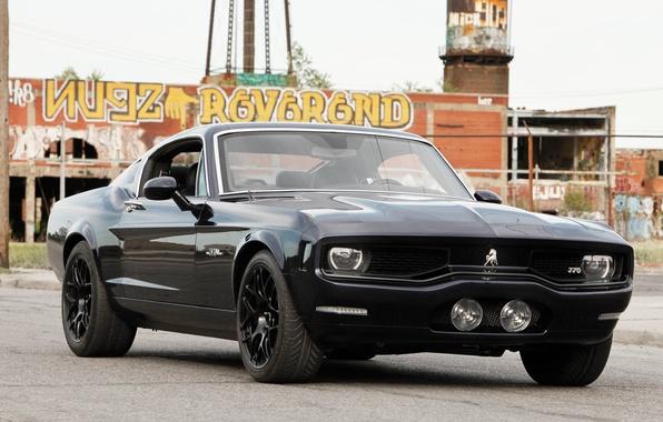 Picture black, sports car, Equus Bass 770