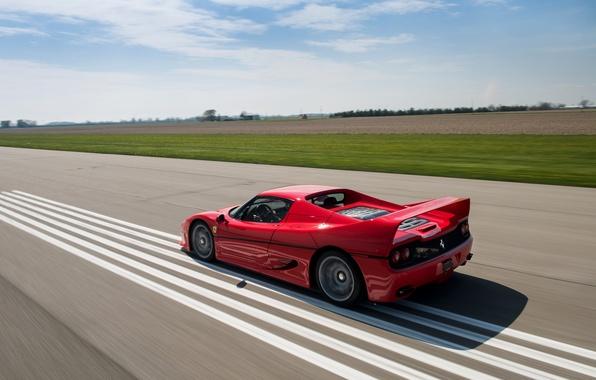 Picture car, red, speed, Ferrari, car, speed, F50