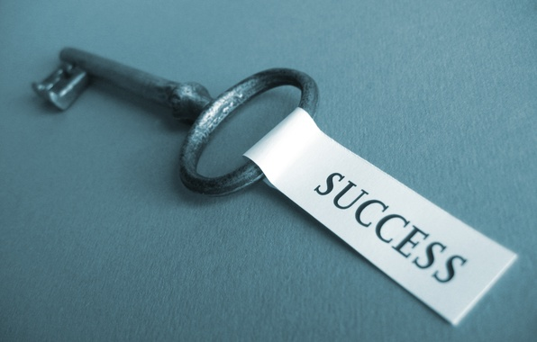 Picture the inscription, key, the word, success