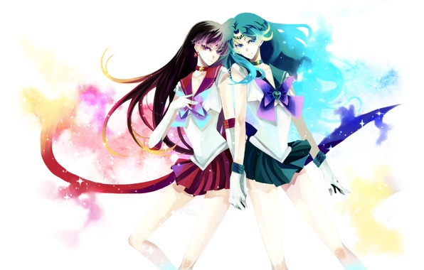picture stars girls mars form neptune bows sailor neptune