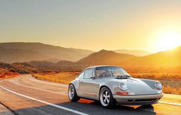Picture The sun, Road, 911, Porsche, Machine, Porsche, Sun, Road, Singer