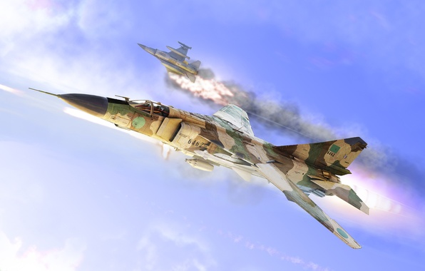 Picture f16, down, MiG-23, MiG 23