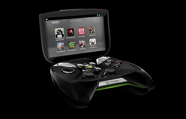 Picture high-tech, logo, game, control, screen, NVIDIA, interface, console, sugoi, Shield, video games, technology, Titanfall, nvidia …