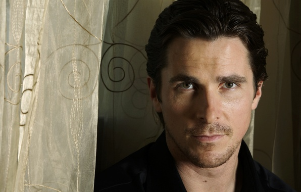 Picture look, face, portrait, actor, male, Christian Bale, Christian Bale