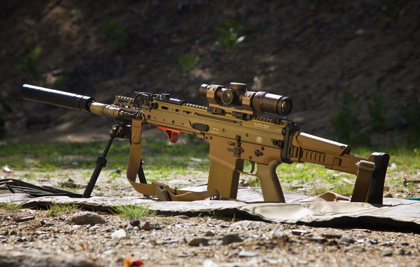 Picture weapons, machine, rifle, assault, SCAR